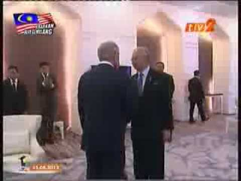 U.S. Secretary of Defense Chuck Hagel visit to Malaysia. News coverage on TV 2.