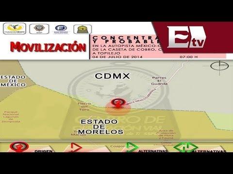 Bloqueos en el DF por el programa Hoy no circula / Vianey Esquinca