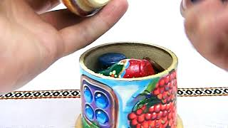 "New 6"" Painted Wooden Toy House Artist STELMAH Handmade Folk Art Home Decor Gift"