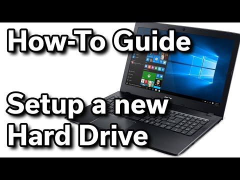 How-To Guide - Setup a New Internal Hard Drive In Windows