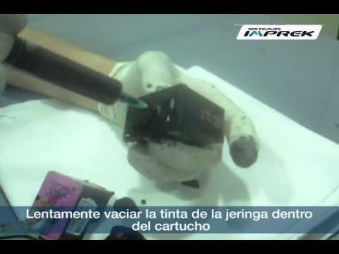Antes del purgado de cartucho Hp: Quitar aire de las mangueras