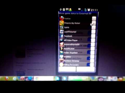 Samsung Galaxy Tab Como Pasar juegos E Aplicaciones A la SD