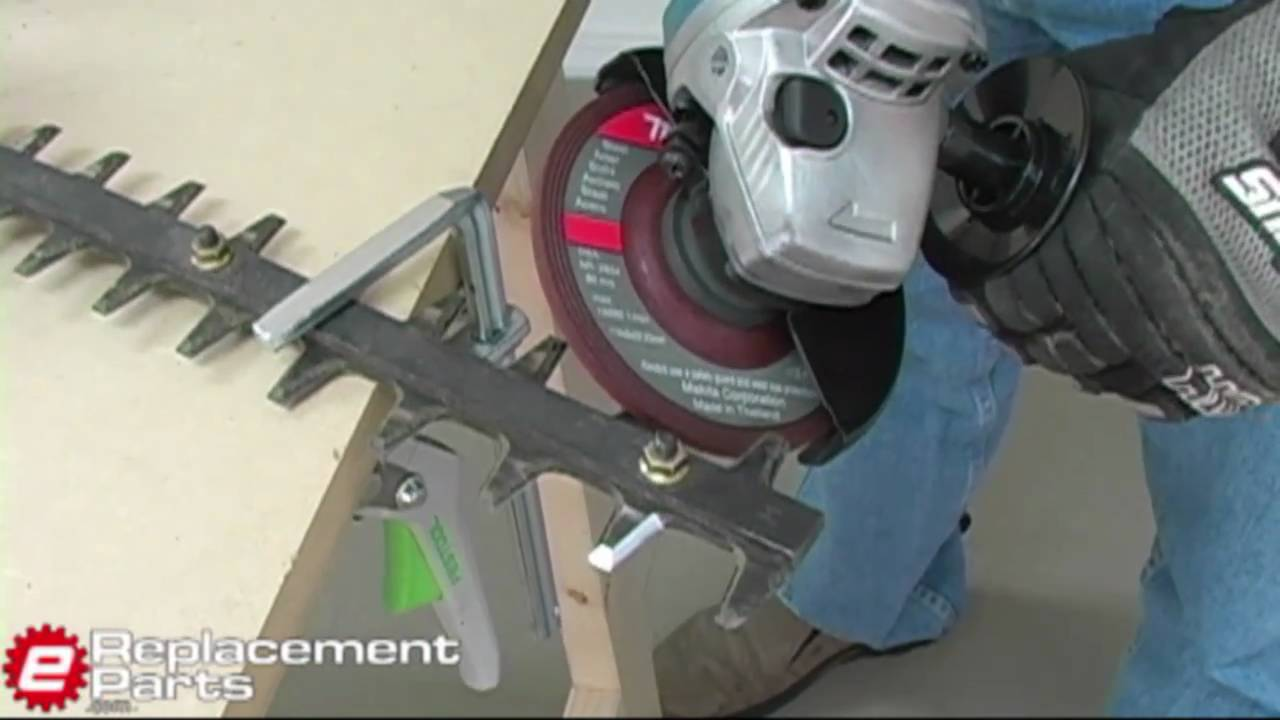 Find A Gas Station >> How to Sharpen Hedgetrimmer Blades - YouTube