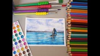 Desenhando Paisagem com lápis Aquareláveis Faber-Castell