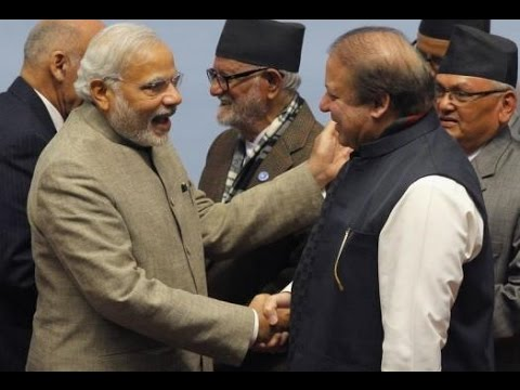Narendra Modi and Nawaz Sharif shake hands, meet at Saarc retreat
