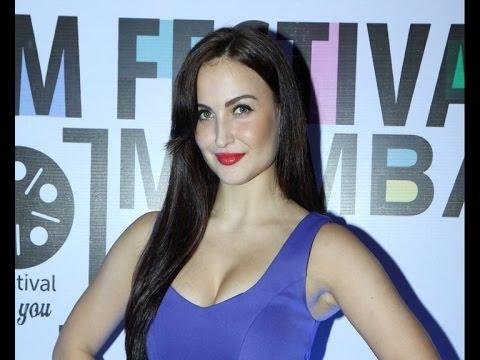 Steamy Hot Elli Avram In Sexy Blue Dress video