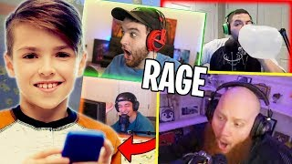 11 YEAR OLD MAKES STREAMERS RAGE QUIT ft. TimTheTatman, CourageJD, & Cloakzy