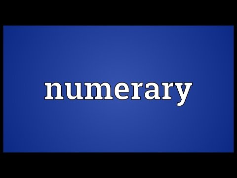 Header of numerary