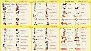 Gender of Nouns in English Grammar | Useful Masculine and Feminine List