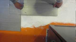 How to mark a tile for cutting