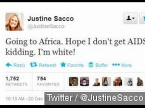 Was Justine Sacco's Trial By Twitter Cyberbullying? - YouTube