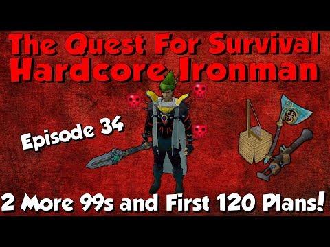 Hardcore Ironman! 2 More 99s & My 120 Plans! [Runescape 3] Episode #34