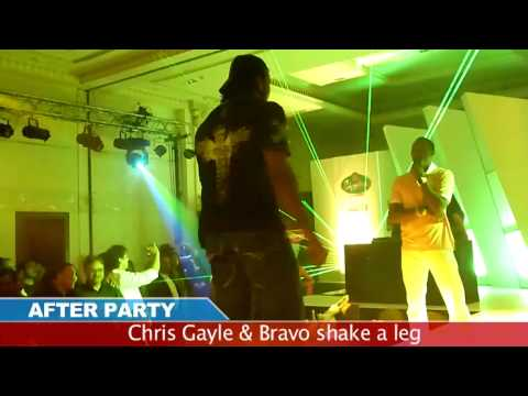 Chris Gayle & Bravo -  Dance On Hindi Song video
