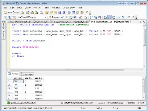 SQL Database Transactions Part I