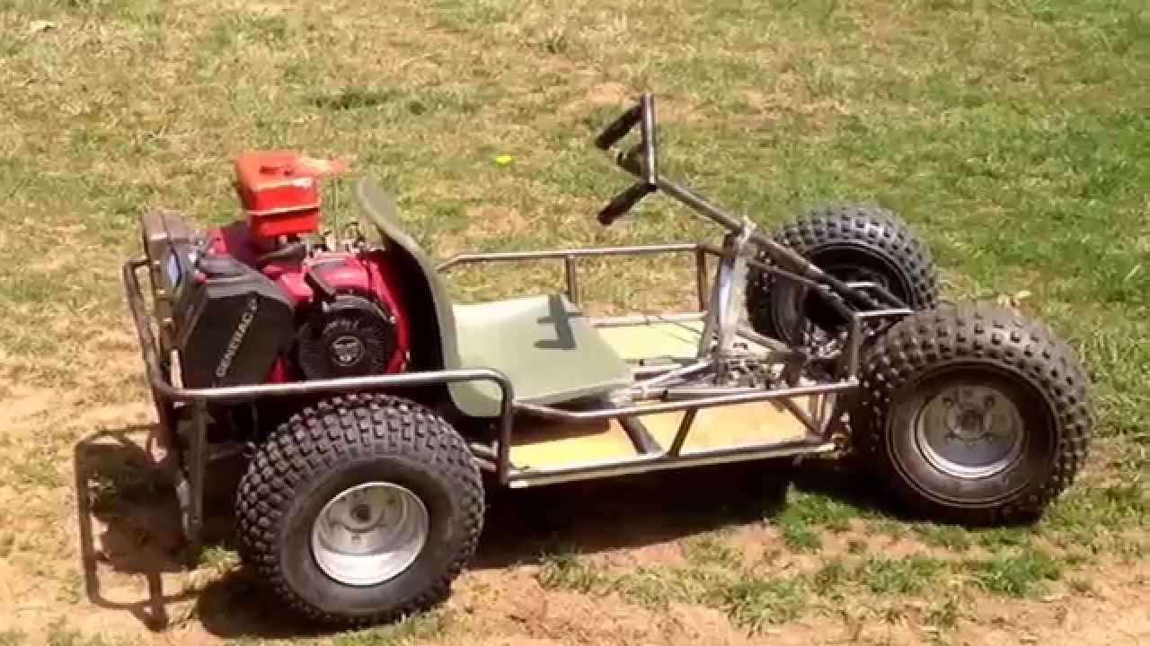 13 hp go kart with 17 inch ATV tires part 3 test run - YouTube