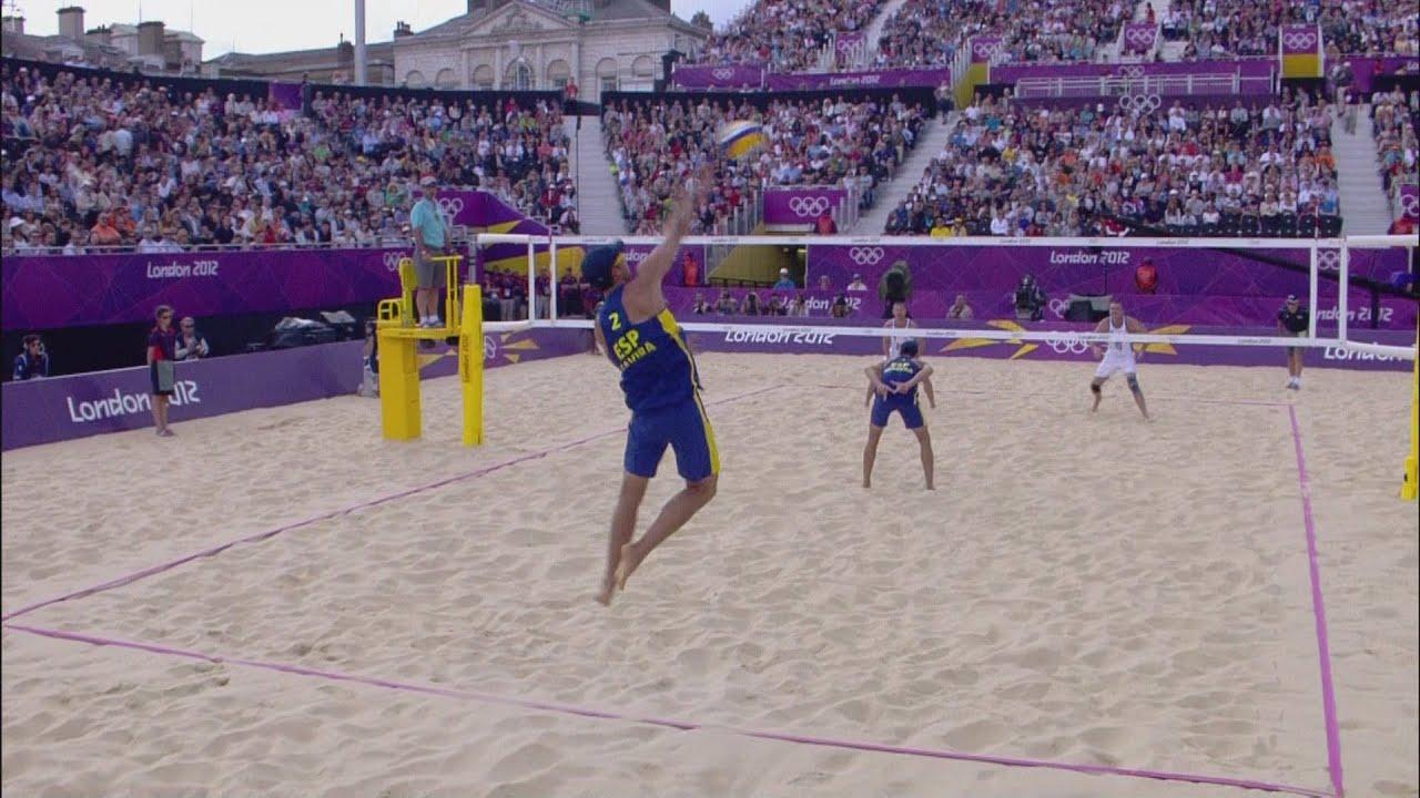 Mens Beach Volleyball Round of 16 - RUS v USA | London