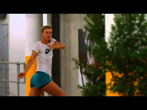 Sharapova limbers up - Australian Open 2015