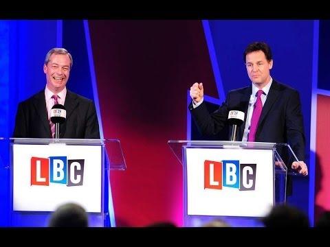 Clegg v Farage LBC European Union Debate Highlights