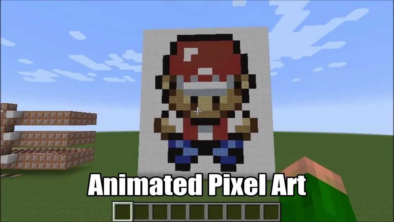 Animated Pixel Art in Minecraft (Walking Character) - YouTube