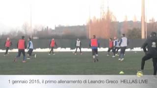 Primo allenamento Leandro Greco