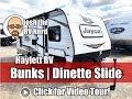 2019 Jayco 184BS Jay Flight SLX Narrow Body Bunkhouse Dinette Slide Small Family Travel Trailer