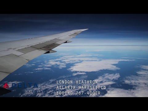 Delta DL85 Full Flight - London Heathrow to Atlanta (Boeing 767-400ER) with ATC