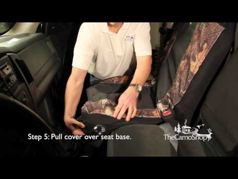 Camo Truck: Browning Camo Seat Cover Installation