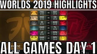 Worlds 2019 Day 1 Highlights ALL GAMES Group Stage