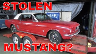 Did I Buy a Stolen classic Mustang
