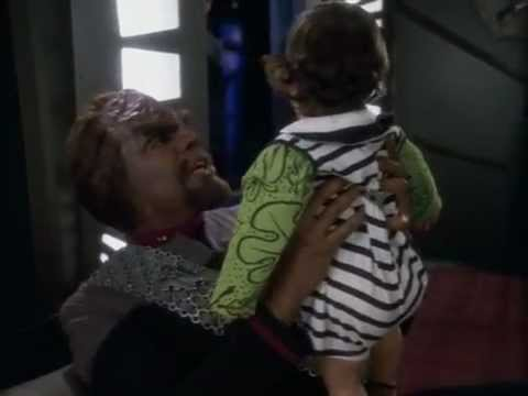 DS9 Worf and baby care (Time's Orphan)