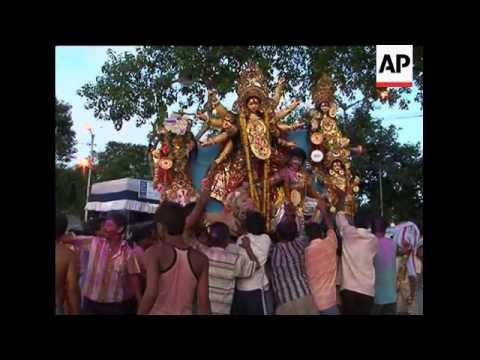 End of celebrations for one of biggest Hindu festivals, Durga Puja