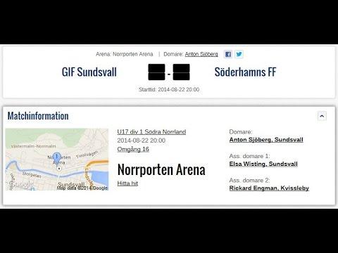 GIF Sundsvall U17 - Söderhamns FF U17 den 22 augusti 2014 kl.20.00