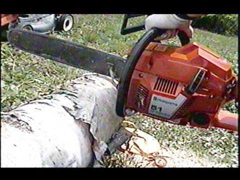 Husqvarna 51 Chainsaw Start Up  & TEST CUT
