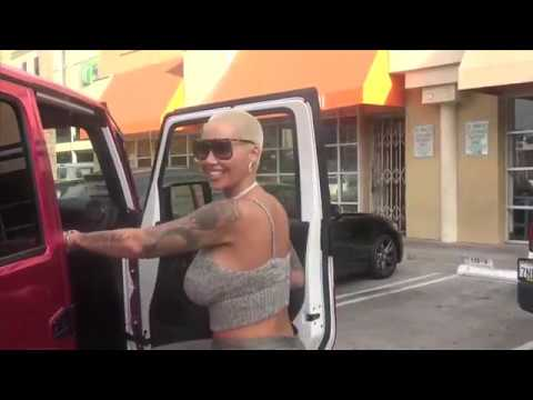 Amber Rose Flaunts Massive Cleavage Stopping For Fast Food Before DWTS thumbnail