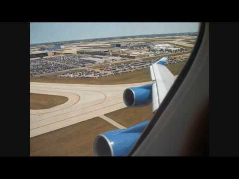 United Airlines Boeing 747-400 Heavy Takeoff At Chicago O'hare with ATC