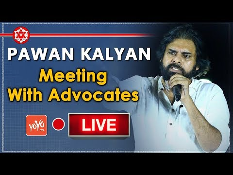 Pawan Kalyan LIVE | Pawan Kalyan Meeting with Advocates | JanaSena Porata Yatra | YOYO TV Channel
