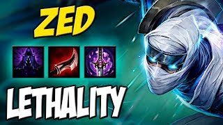 COM ESSA BUILD NEM PRECISA DE  R PRA SOLAR - ZED MID GAMEPLAY - LEAGUE OF LEGENDS
