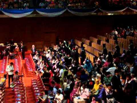 Graduates procession OUM