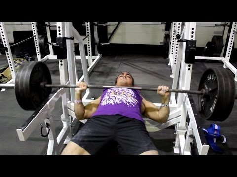 Omar Isuf 340lb Bench Press Attempt (@180lbs Bodyweight) Image 1
