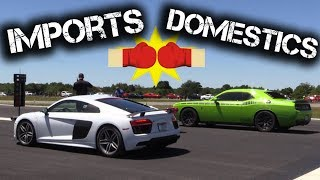 Best of Imports vs Domestics HALF MILE Racing!