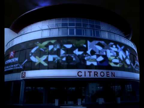 Citroen Ada opening show / large scale projections