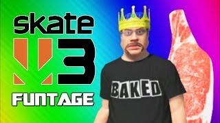 Skate 3 Funny Moments 4 - Meat Man, Hawaiian Dream, Skate King, Onion Wing (Funtage)