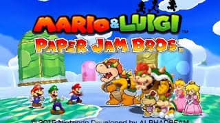 [Mario & Luigi: Paper Jam] Title Screen Footage