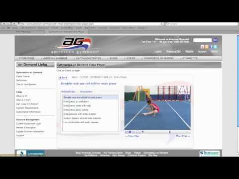Gymnastics Strength - Straddle Press To Handstand