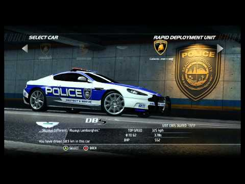 NFS Hot Pursuit - All Police Cars (Including DLC)