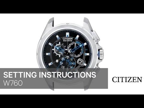 CITIZEN W760 Setting Instruction
