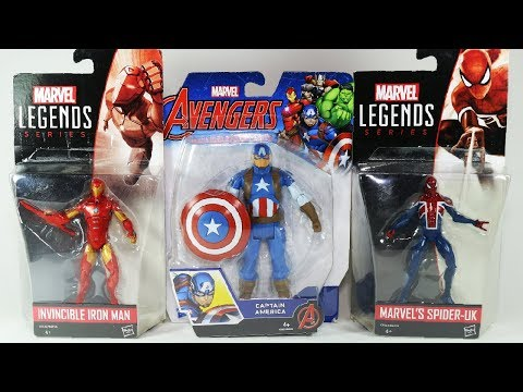 Marvel Legends Spider UK Invincible Iron Man and Captain America Figure