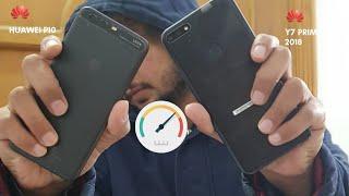 Huawei Y7 Prime 2018 vs Huawei P10 Speed test| Huawei Phones | MH Techi
