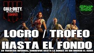 Call of Duty: Black Ops 4 (Zombis) | Logro / Trofeo: Hasta el fondo (Ronda 20 sin drenar el agua)