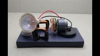 free energy electric generator using dc motor - DIY science experiment project 2018